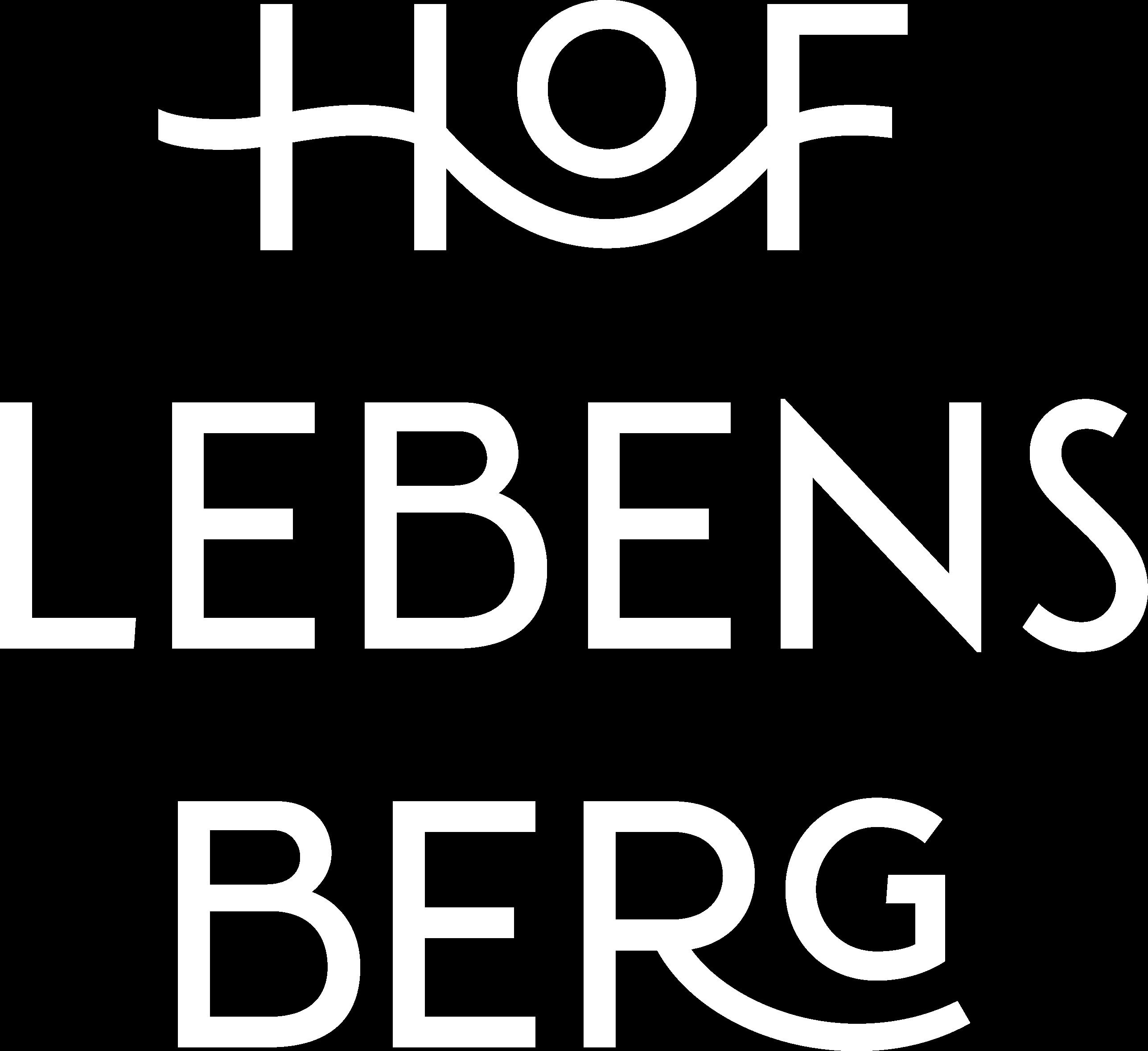 Hof Lebensberg Logo Weiß