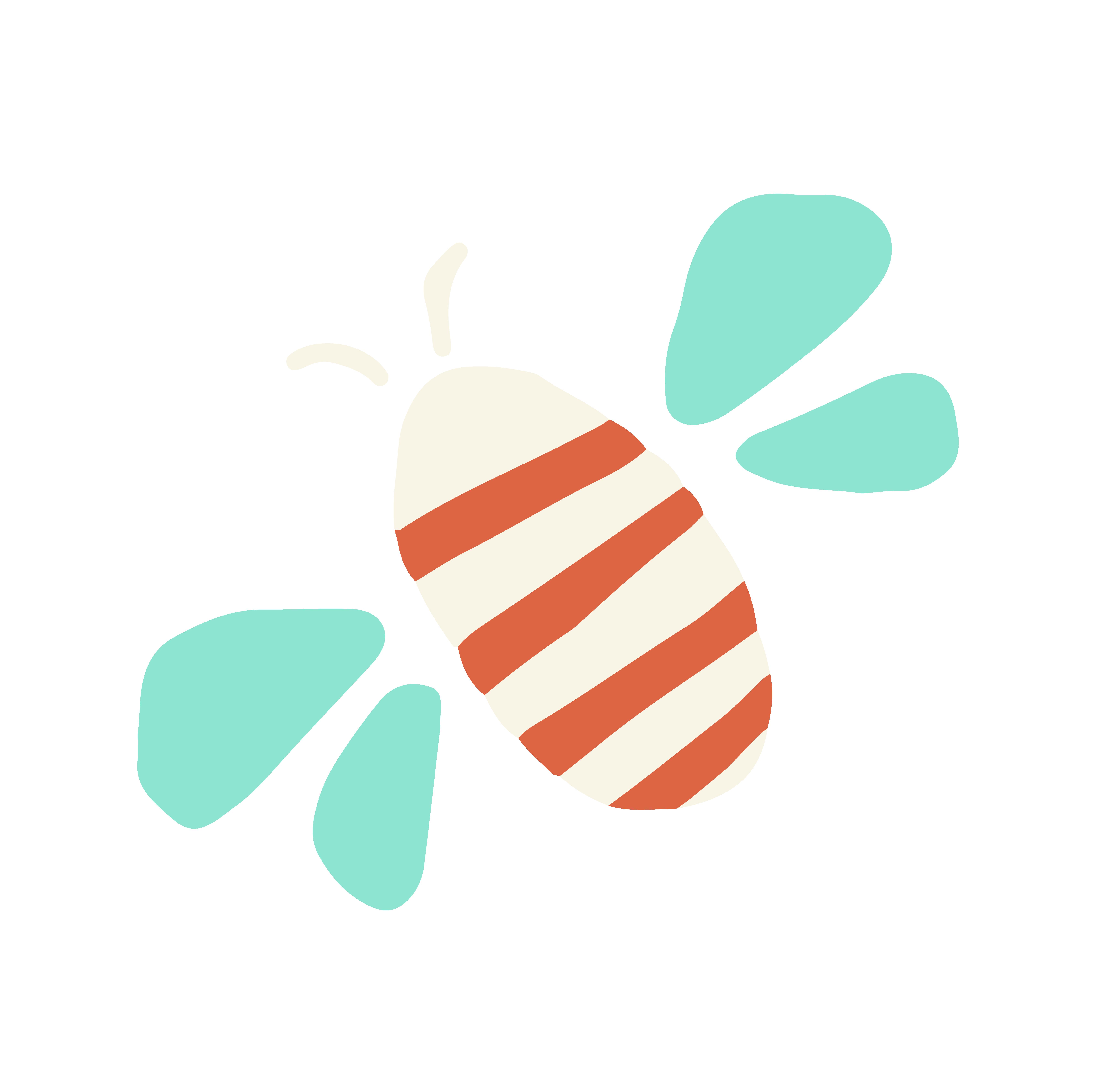 Stilisierte Zeichnung einer Biene