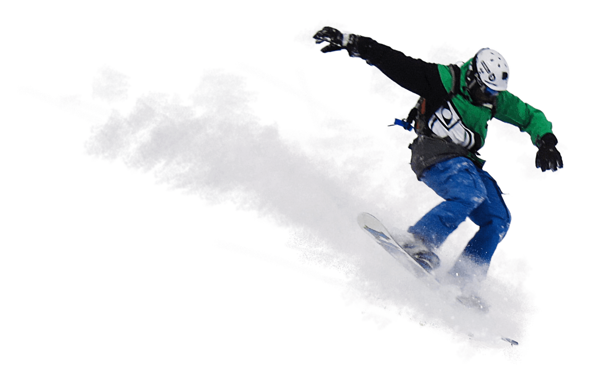 A snowboarder jumping.