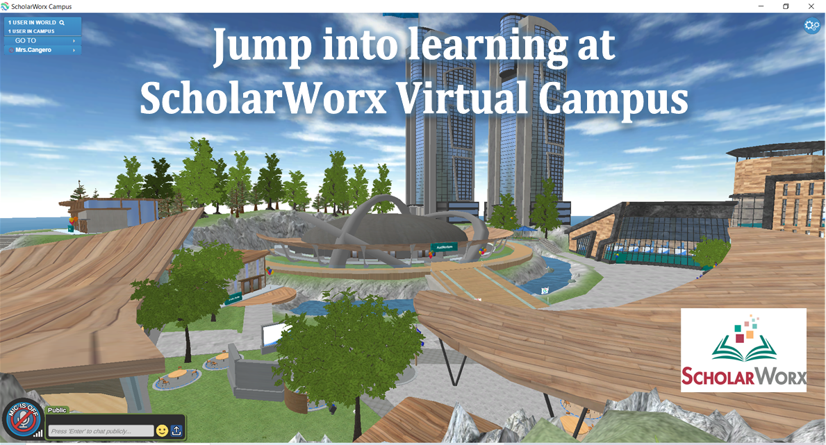 Overview of the ScholarWorx campus.