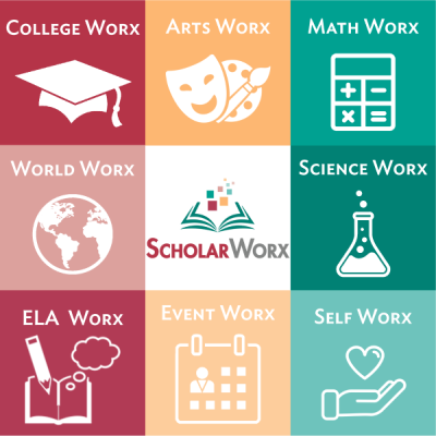 ScholarWorx tiled offering. Whatever you want to learn today, ScholarWorx has you covered.