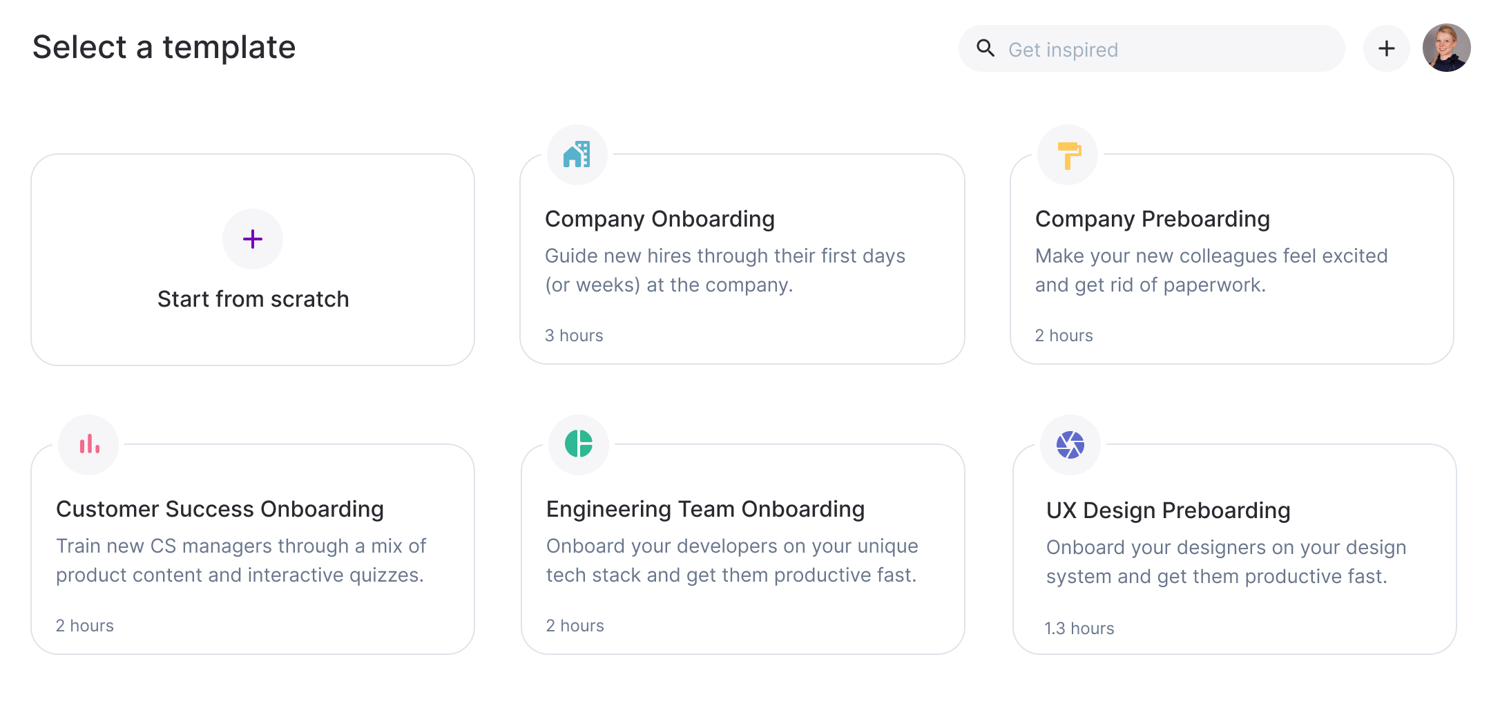 Template selection for different onboarding journeys. templates reflect best practices for onboarding new hires.