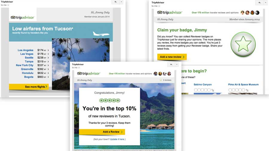 Examples of crm communications at Tripadvisor