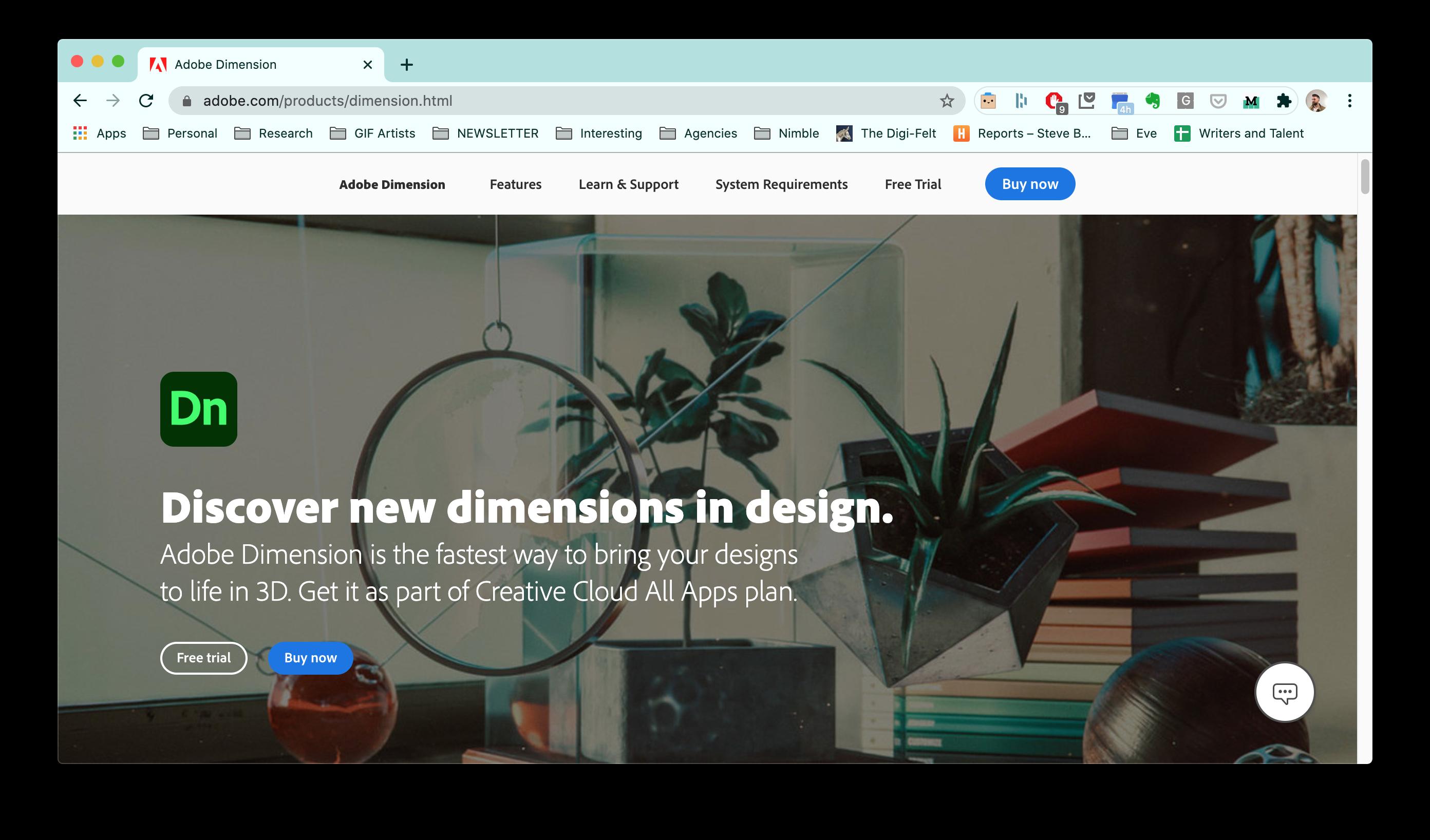 marketing strategy for Adobe Dimension