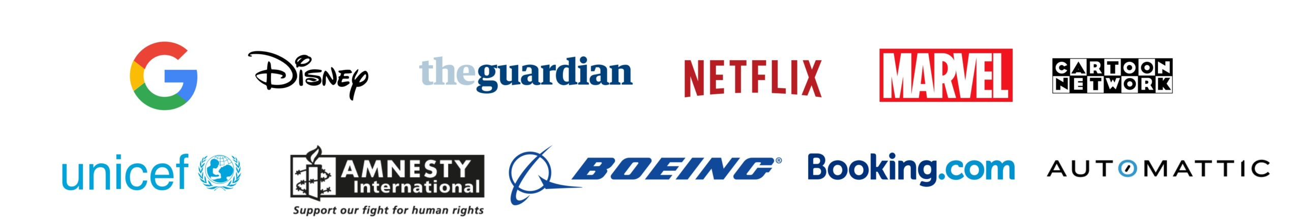 Logos of the companies that stayed in Sende