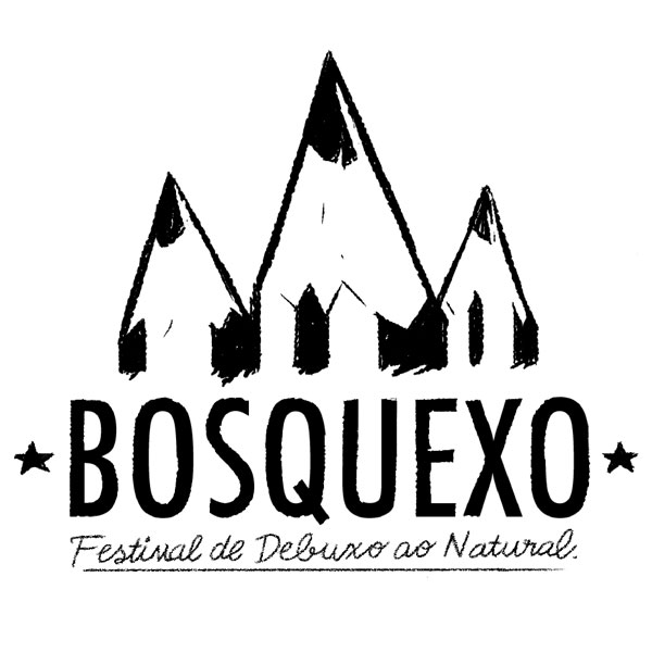 Logo of Bosquexo, a festival for illustrators which is organized in this village