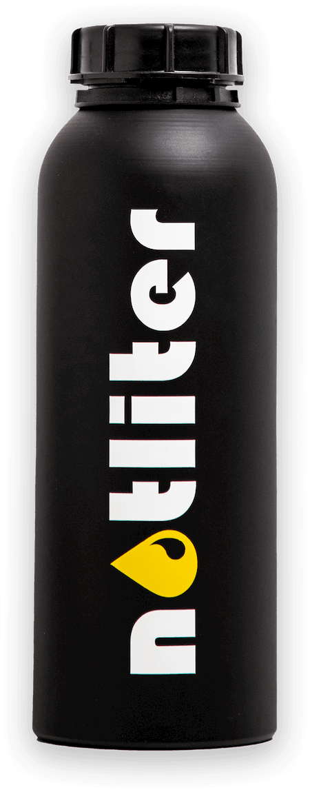 notliter Flasche