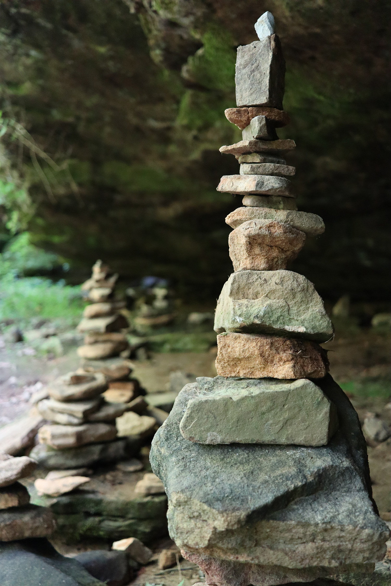 Image of stones stacked up to form a tower