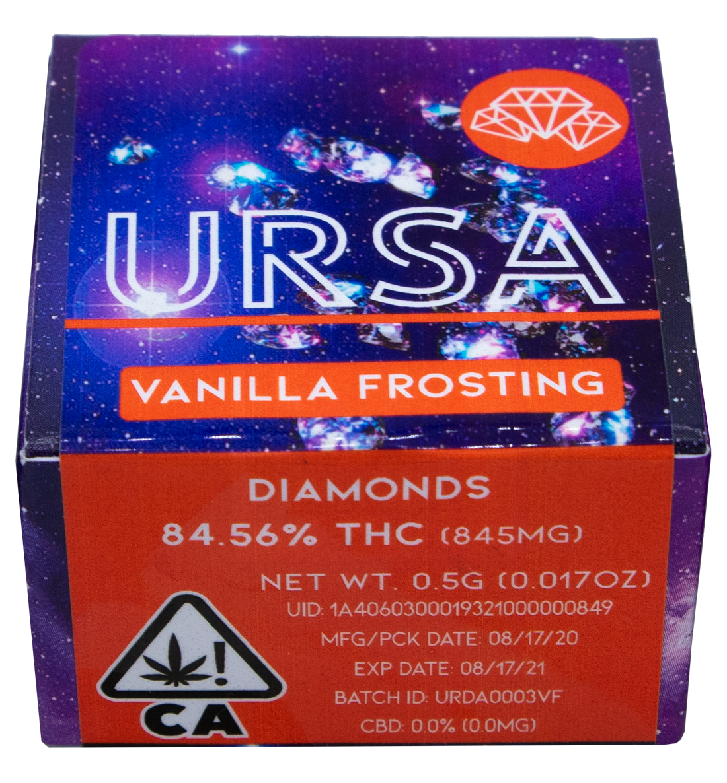 URSA Extracts THC Diamonds Red Box