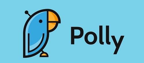 A logo of Polly.ai