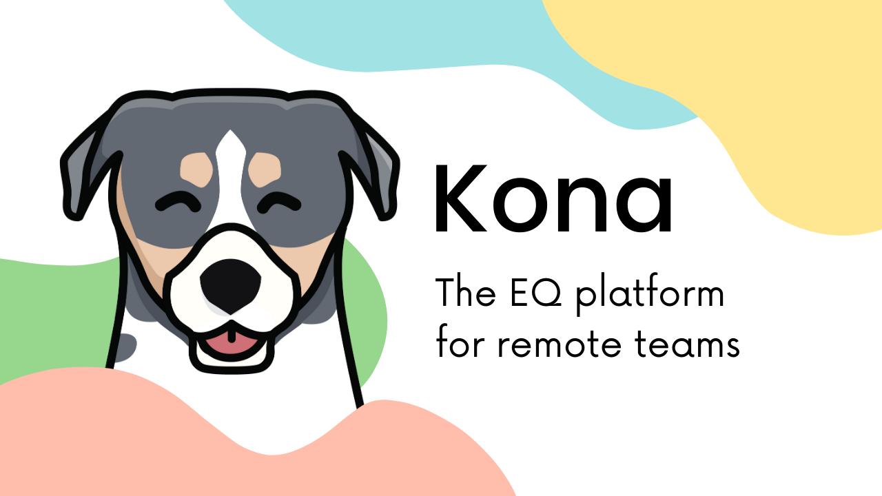 A screenshot of Kona, our EQ platform for remote teams.