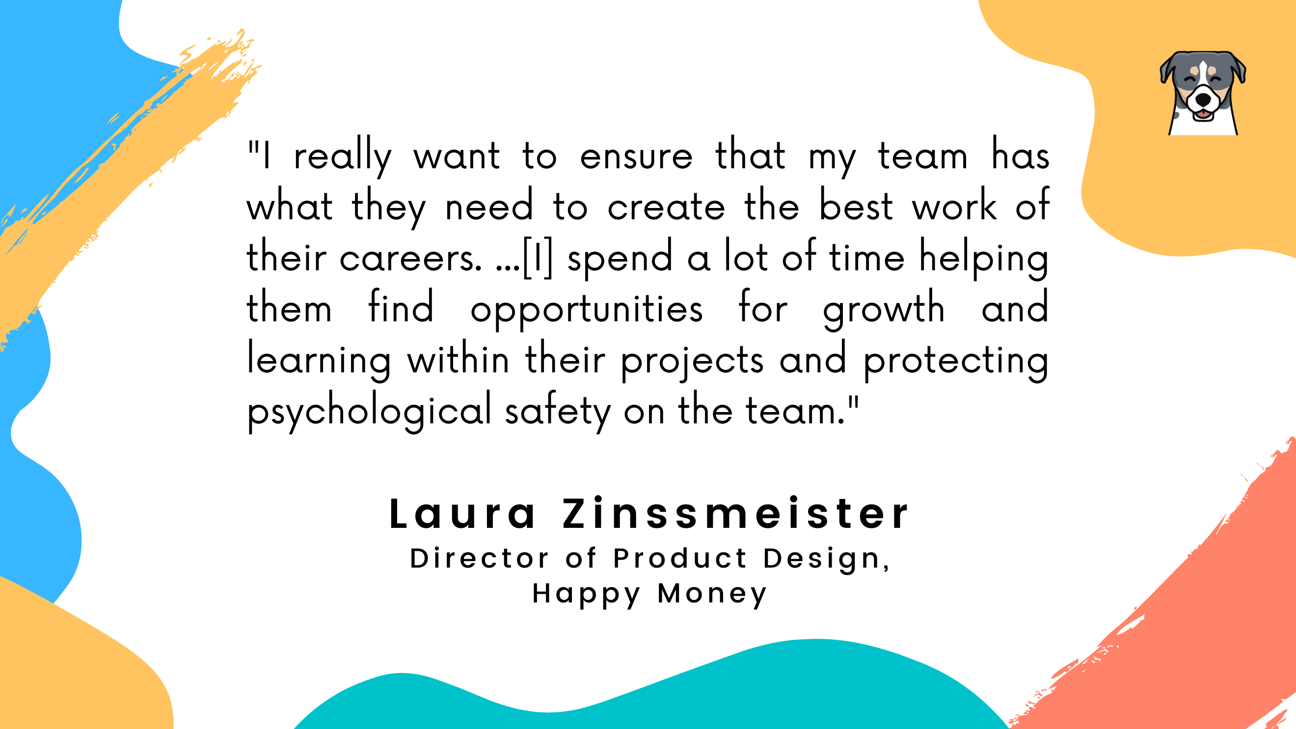 Laura's quote on protecting psychological safety.