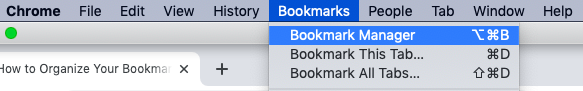 How to organize bookmarks in Chrome?