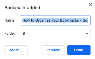 Changing chrome bookmark title