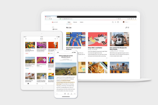Pocket supports desktop, ios and android with native apps
