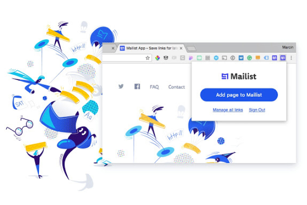 Mailist is a read later chrome extension and webapp with smart reminder mechanism