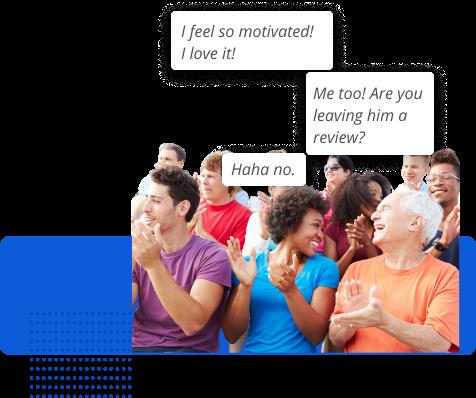 Meme of participants never posting reviews