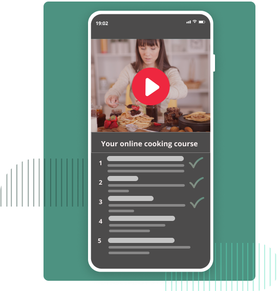 App image of a cooking course