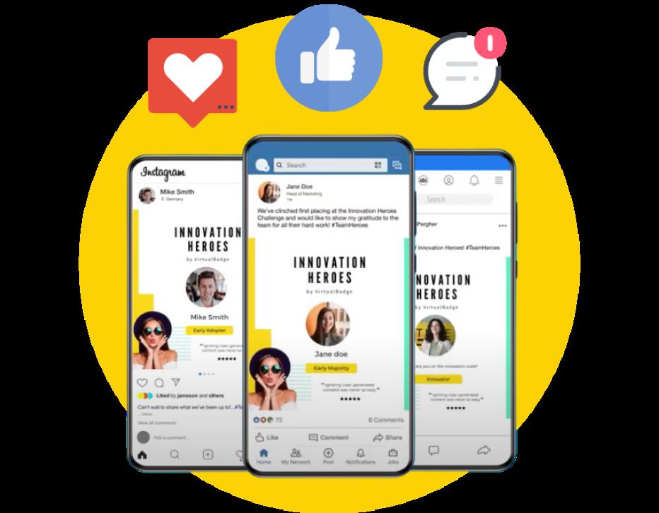 digital badges on social media