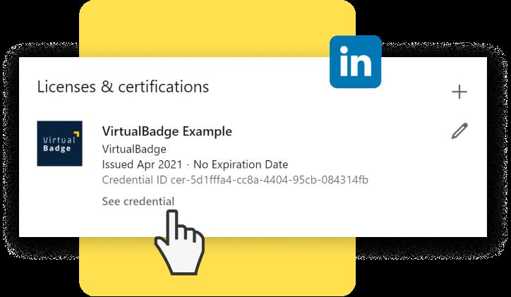 LinkedIn certification with digital badges
