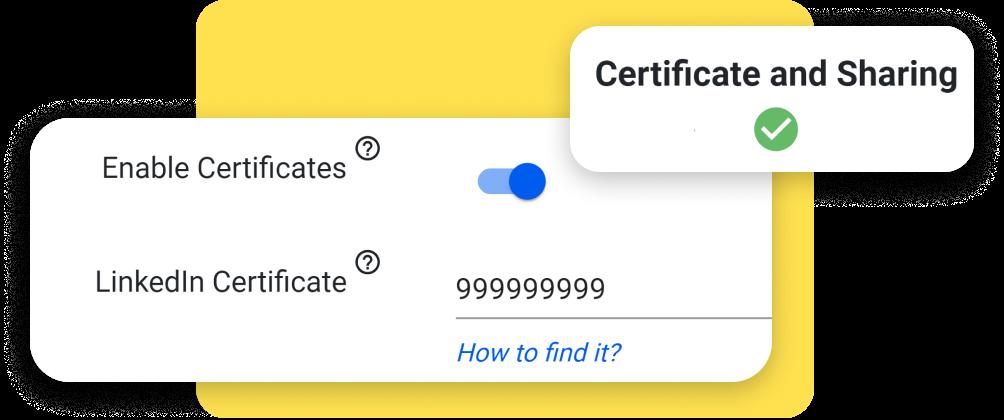 linkedin certificates with digital badges
