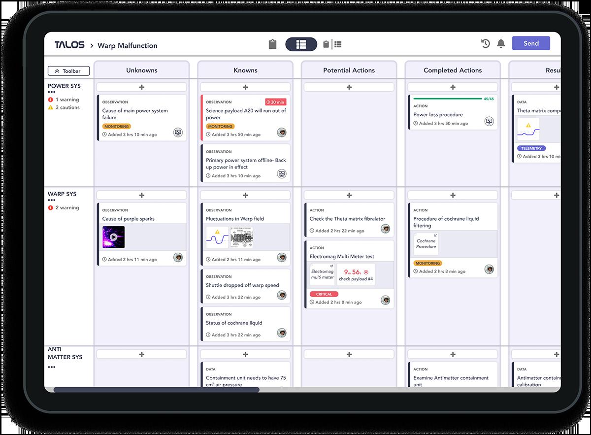 iPad app screen