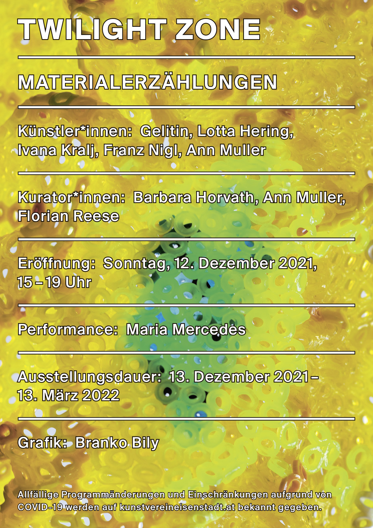 Ausstellungseröffnung: TWILIGHT ZONE (Materialerzählungen)