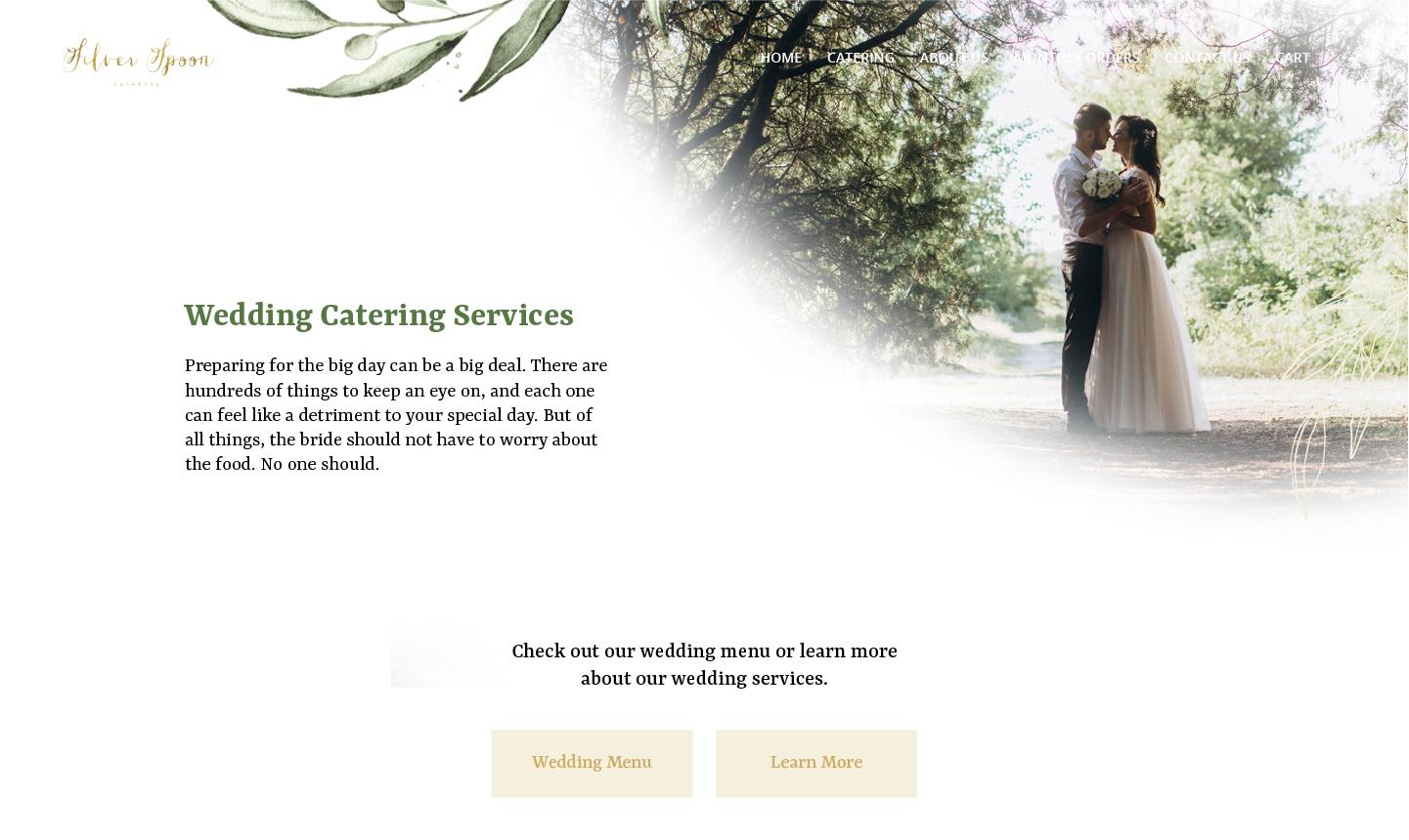Wedding page website design