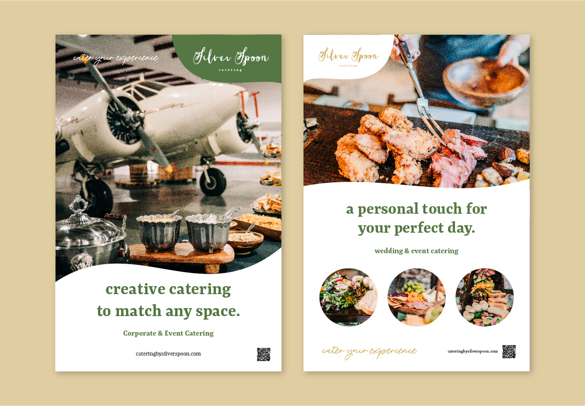 Poster Design for a conference event for Silver Spoon Catering