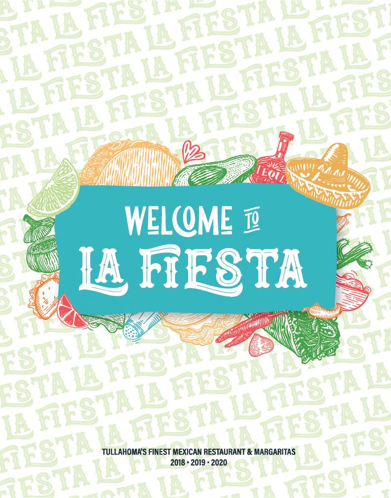 La Fiesta Mexican Restaurant Menu Design Layout Cover