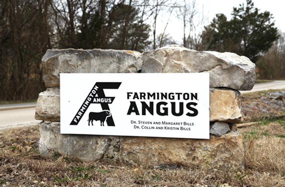 Farmington Angus Logo on Sign-a-Bond Sign Material Wide format print on vinyl.