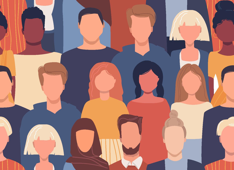 Illustration of Diverse humans Maius