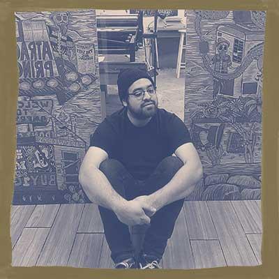 Stylized headshot of Benjamin Muñoz