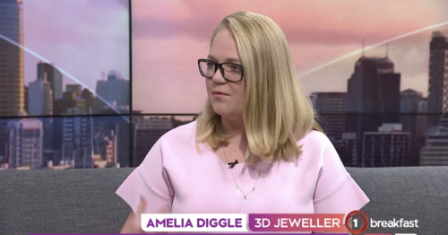 Amelia Diggle talking about HIJ on TV - breakfast show