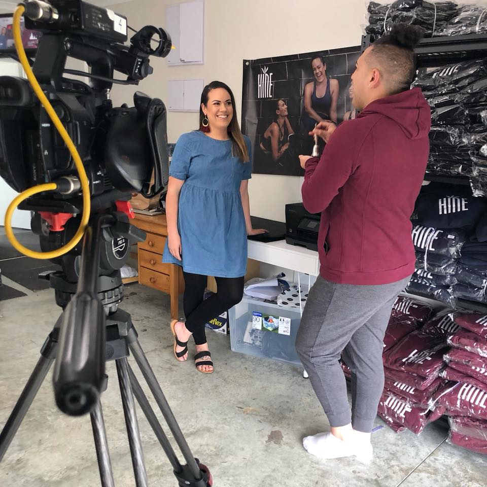 Miria Flavell giving an interview about Hine Collection with Haka Nation film crew