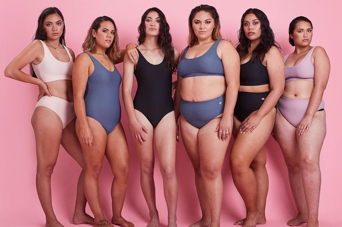 Miria Flavell and her amazing models wearing Hine collection swimwear