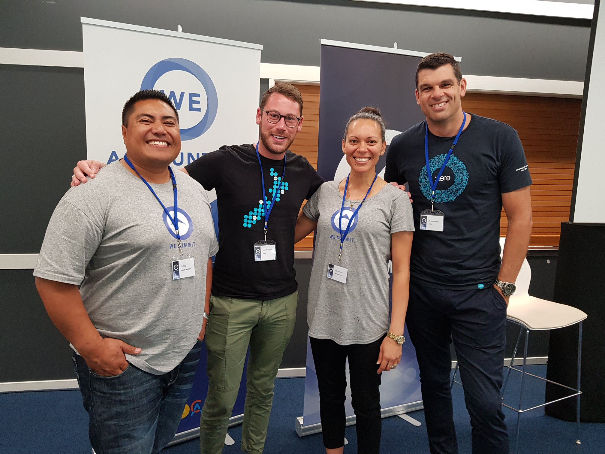 Wyndi Tagi, Eli, and the managing director of Xero, Craig Hudson