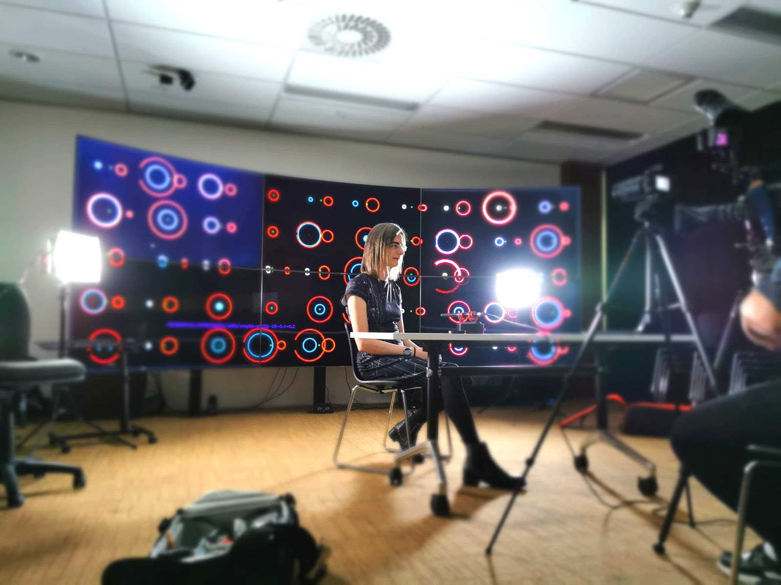 JJ recording a short video on their research. Credit: Heloise Stevance