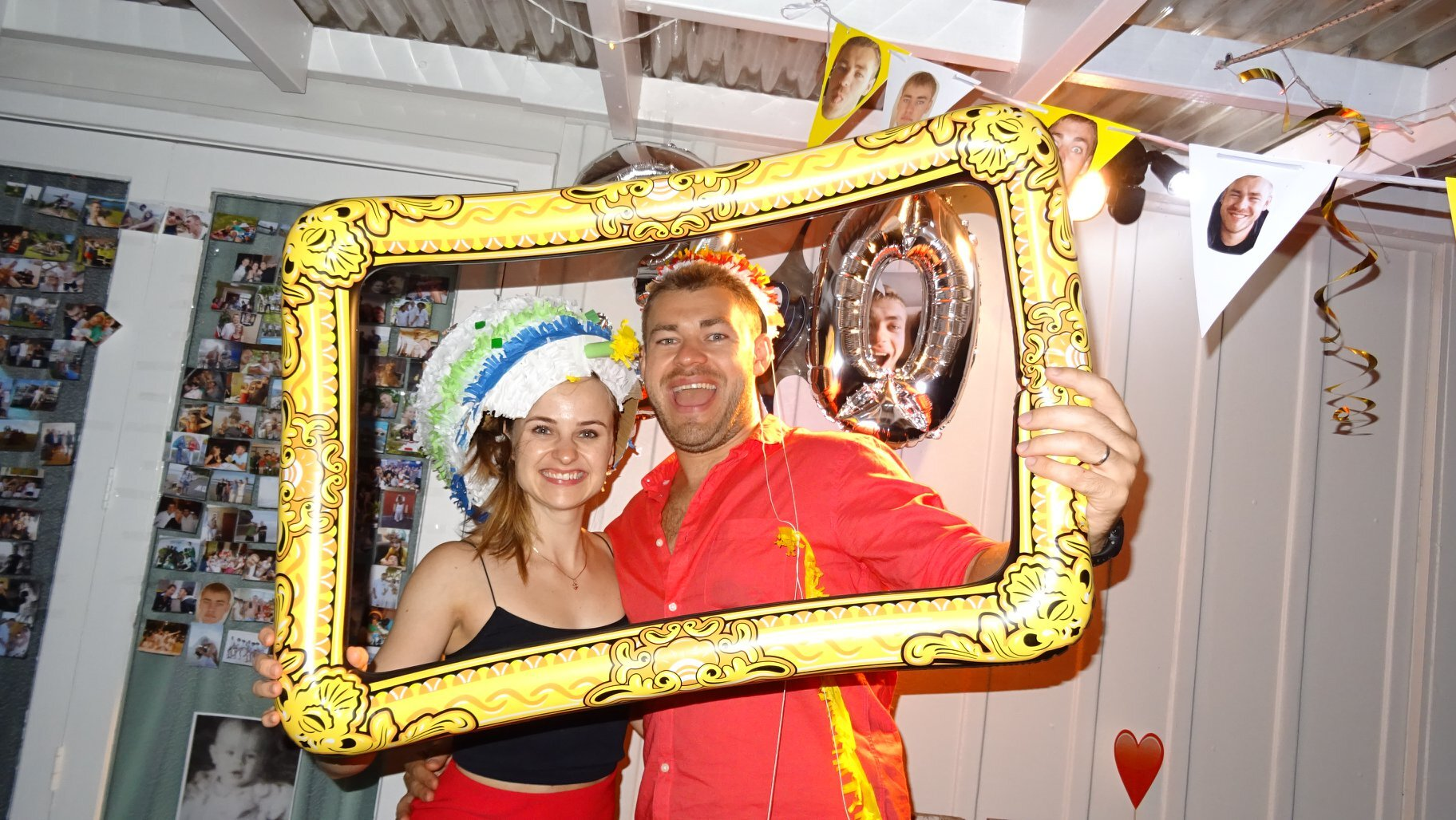 Maria and her husband Igor at his 30th birthday party