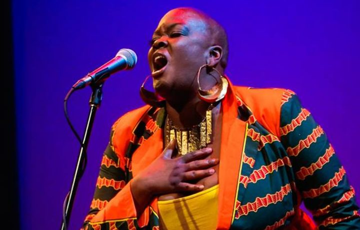 Sonya Renee Taylor performing