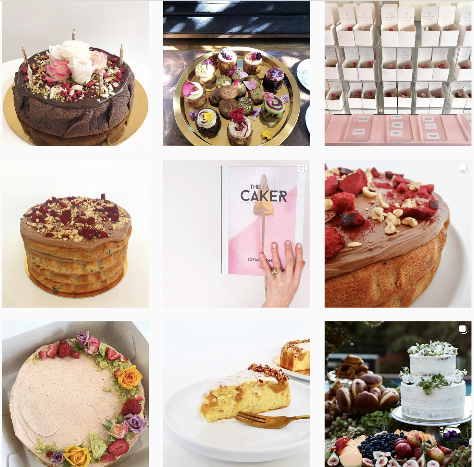 The Caker Instagram feed from:  https://www.instagram.com/thecaker/