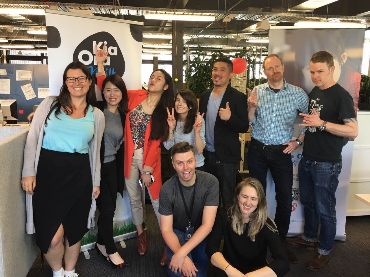The amazing Kia Ora Milk team
