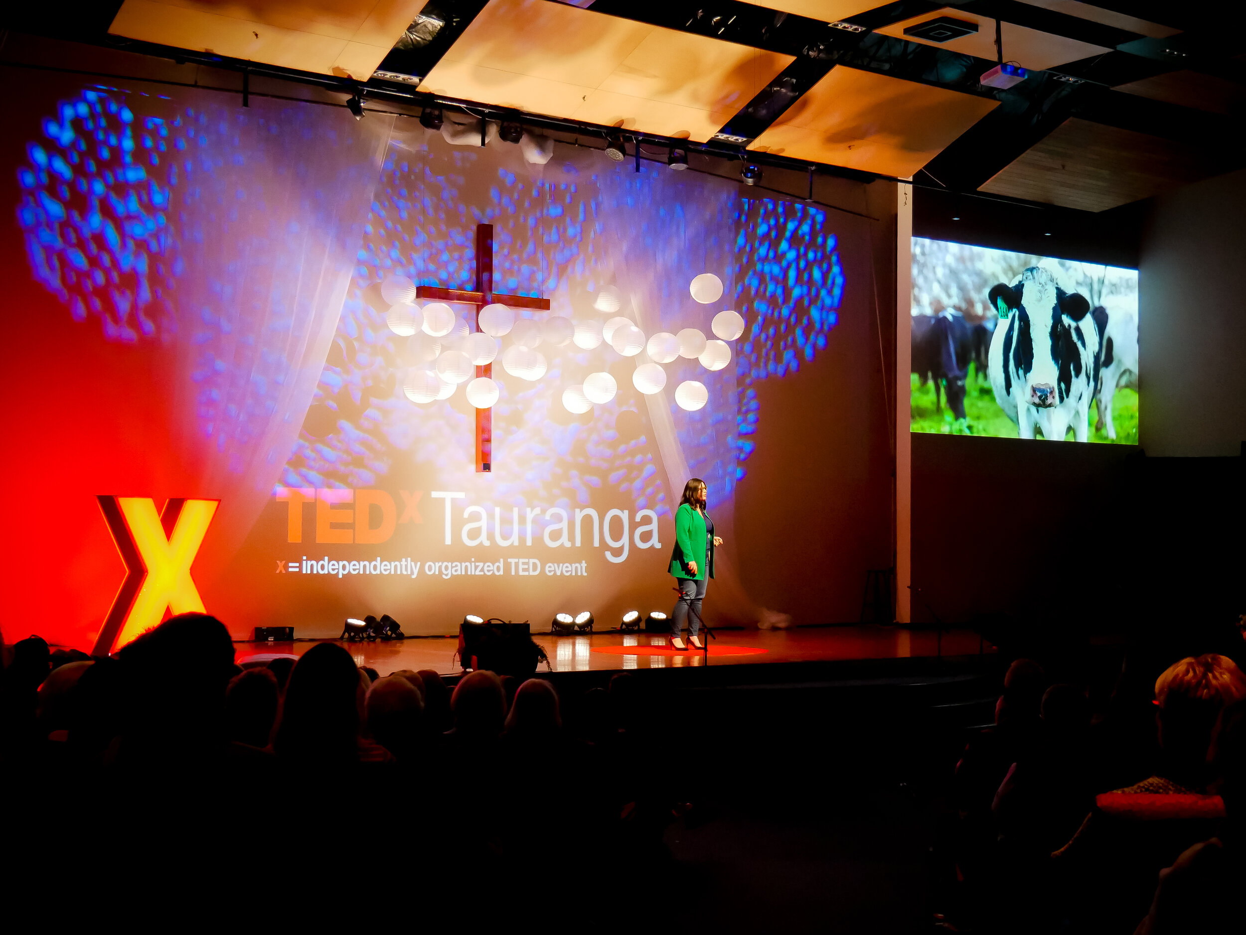 Danielle on the stage of TedX Tauranga