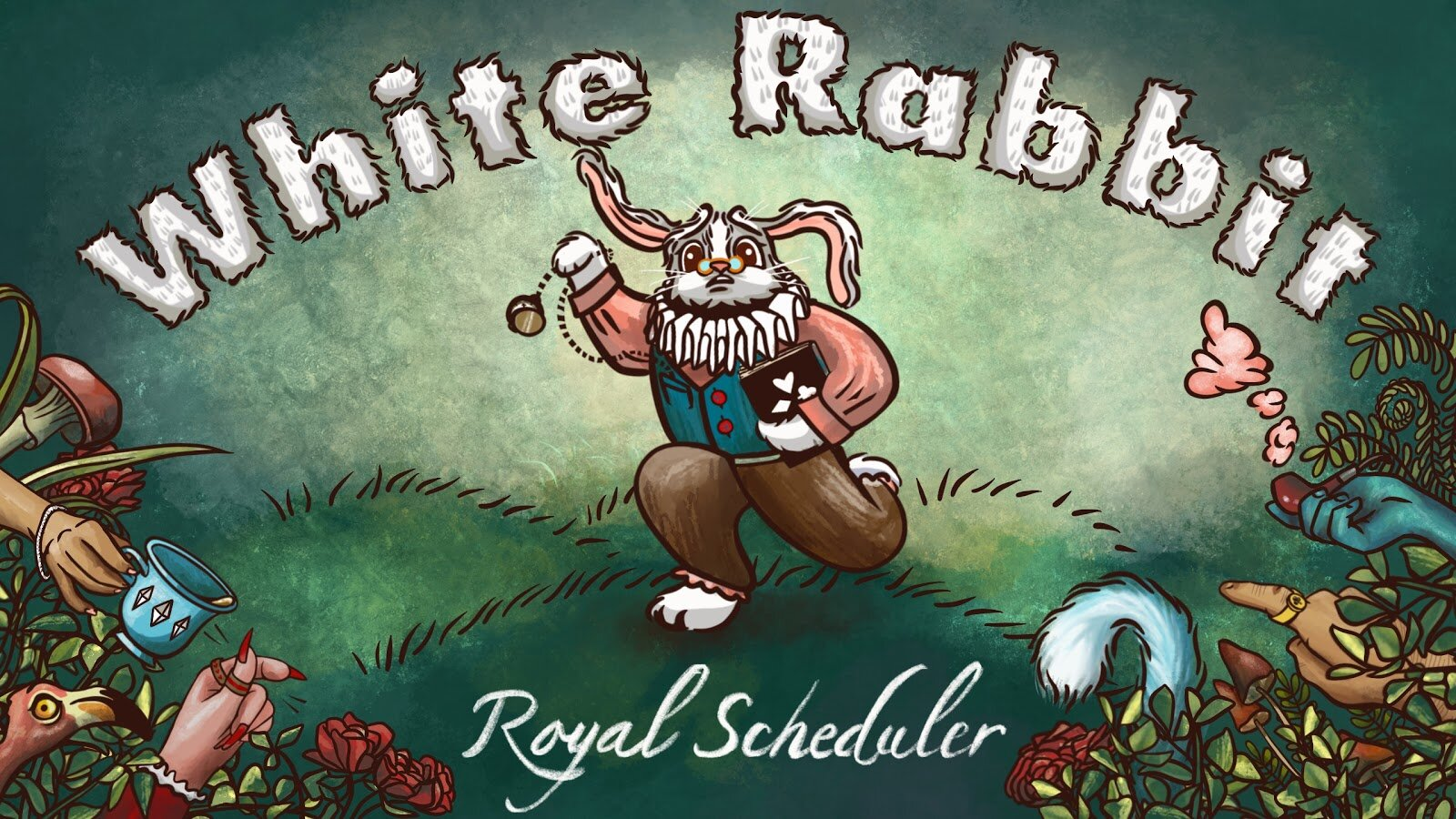Rose's digital illustration of White Rabbit - Royal Scheduler by Skybear Games