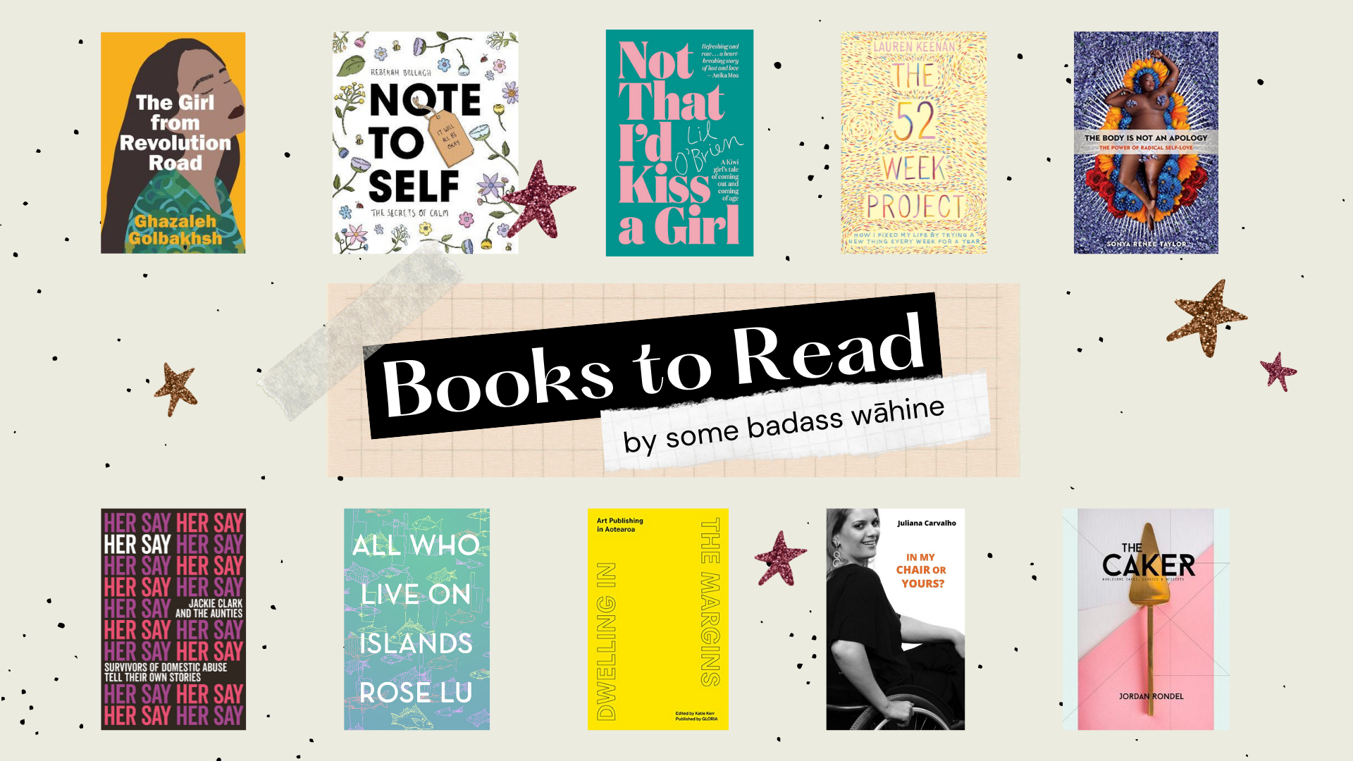 10 of the book covers displayed that we recommend reading