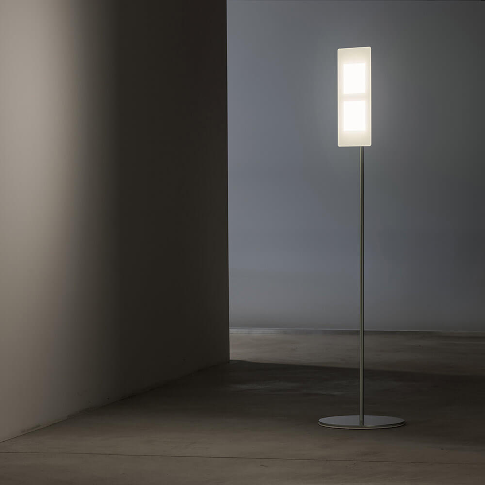 OMLED OLED standing lamp which points towards the wall