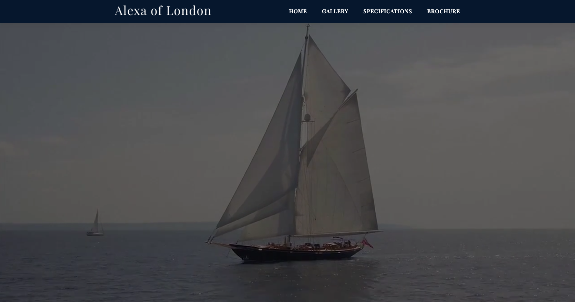 Luxury travel new website for yacht