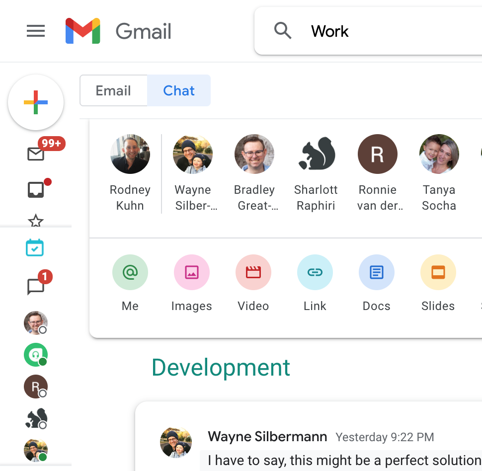 Google Chat Search in Gmail