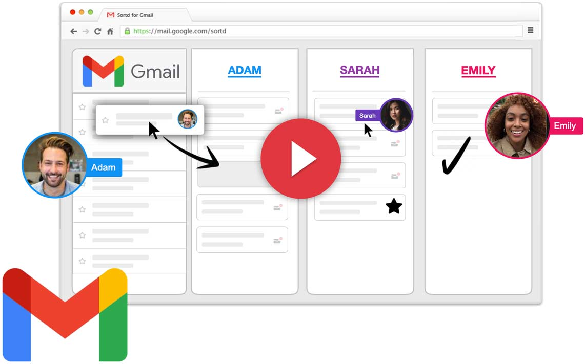 Sortd for Gmail with Google Chat