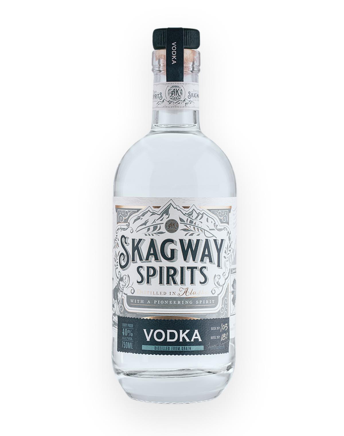 A beautiful bottle of Glacial Vodka